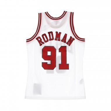 canotta basket uomo nba swingman jersey hardwood classics n.91 dennis rodman 1997-98 chibul home One Size