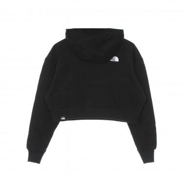 felpa cappuccio corta donna trend crop hoodie 41