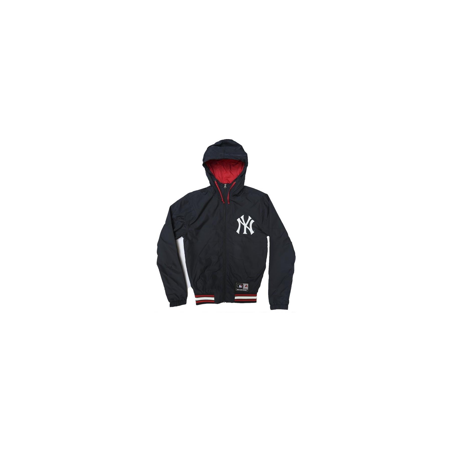 new style 020ac d6802 GIUBBOTTO MAJESTIC JACKET WINDBREAKER PERFORATED MLB NEW YORK YANKEES  Navy/Red unico | Atipicishop.com