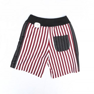 PANTALONE CORTO MINIMARKET SWEATSHORT MIBR19 White/Red Stripes/BlackMesh stg