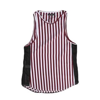CANOTTA MINIMARKET TANK TOP MICA26 White/Red Stripes/BlackMesh stg