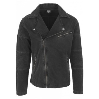 GIUBBOTTO URBAN CLASSICS JACKET TERRY BIKER DarkGrey stg