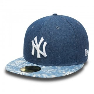 CAPPELLO FITTED NEW ERA CAP FITTED MLB NEW YORK YANKEES DENIM PALM stg