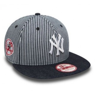 CAPPELLO STRAPBACK NEW ERA CAP STRAPBACK MLB NEW YORK YANKEES PINSTRIPE Denim/White stg