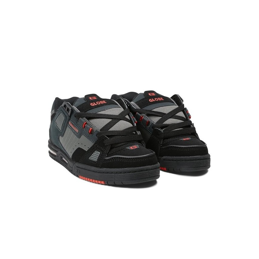 super popular c04fe 12f12 SCARPE SKATE GLOBE SHOES SABRE Black/Red/Charcoal unico