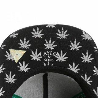 CAPPELLO SNAPBACK CAYLER  SONS CAP SNAPBACK WE GET HIGH Black/White/Grey/Silver