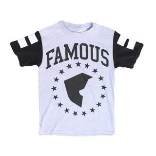 MAGLIETTA FAMOUS T-SHIRT FAM PAT SPORT Grey/Black/White