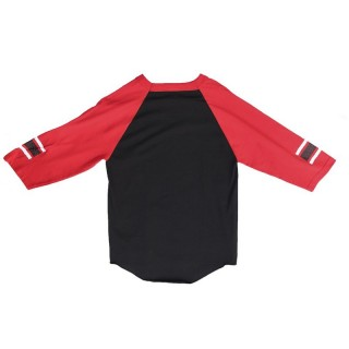 MAGLIETTA FAMOUS T-SHIRT MESH 3/4 SLEEVES WILD RAGLAN Black/Red/White