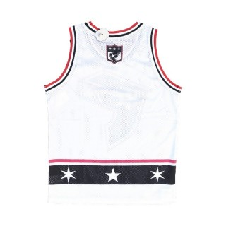 CANOTTA FAMOUS TANK TOP MESH BASELINE White/Red/Black