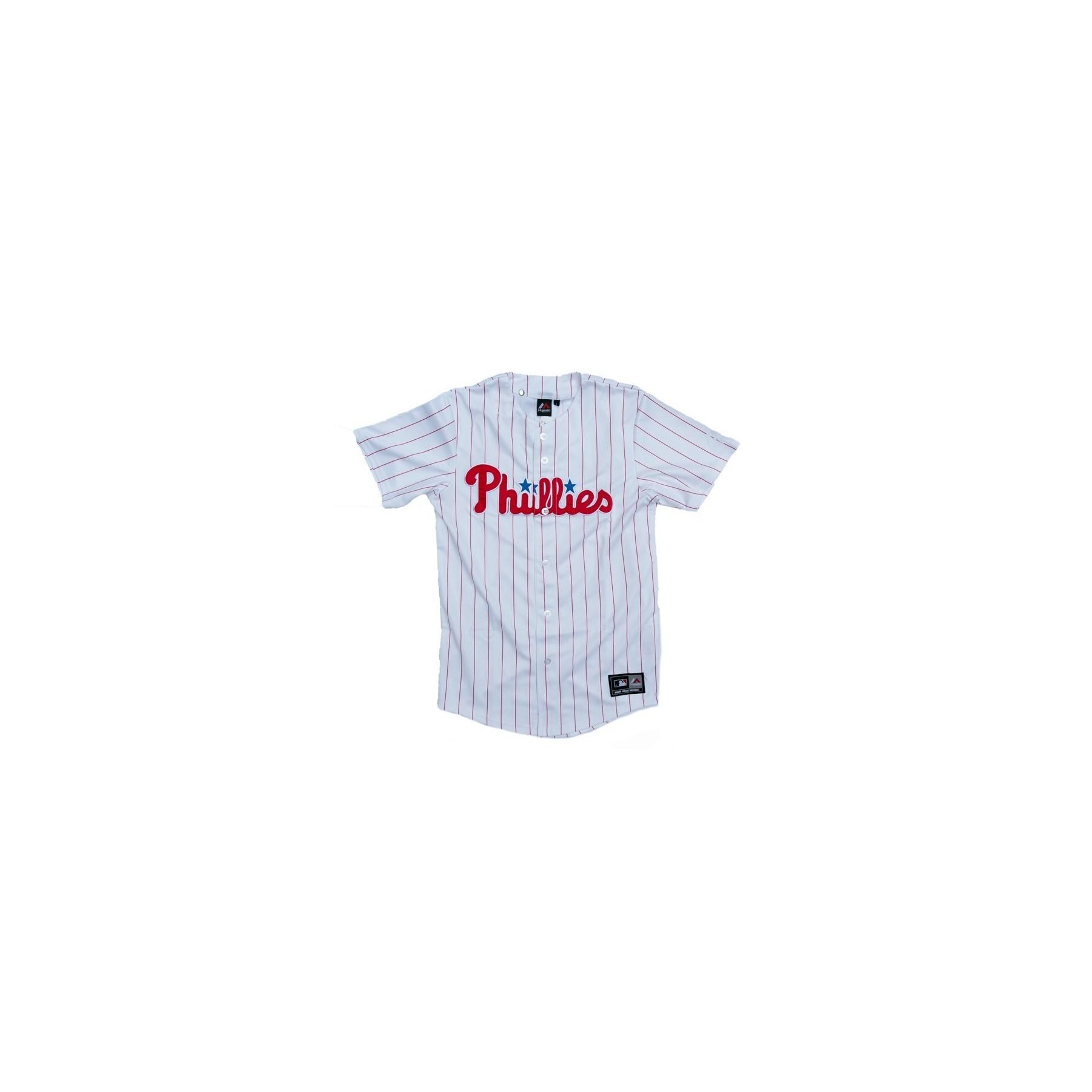 wholesale dealer 69dab 3e6fb CASACCA MAJESTIC BASEBALL JERSEY REPLICA MLB PHILADELPHIA PHILLIES HOME  White/Red unico   Atipicishop.com