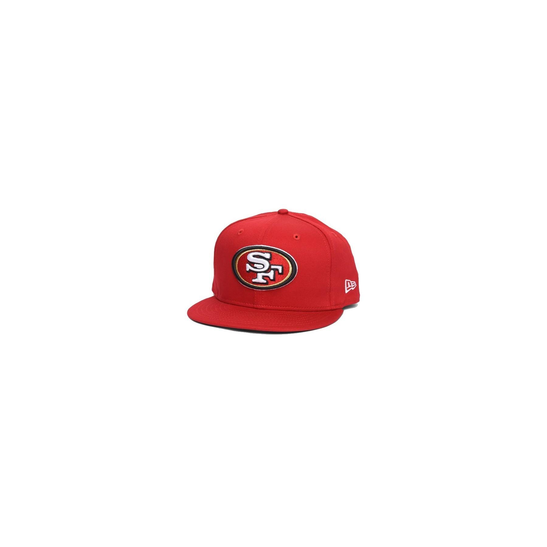 6cc15234 CAPPELLO SNAPBACK NEW ERA CAP SNAPBACK NFL SAN FRANCISCO 49ERS LOGO PRIME  Red/White unico | Atipicishop.com