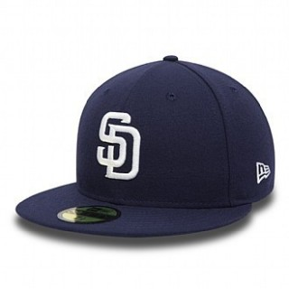 CAPPELLO FITTED NEW ERA CAP FITTED MLB SAN DIEGO PADRES TSF Obsidian/White stg
