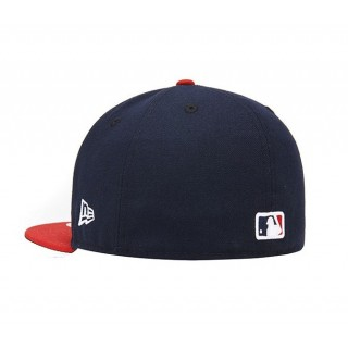 CAPPELLO FITTED NEW ERA CAP FITTED MLB CLEVELAND INDIANS TSF Navy/Red stg