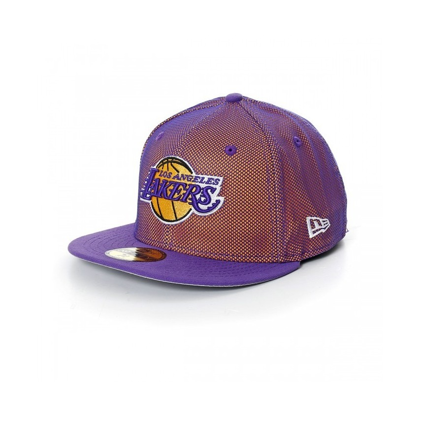 CAPPELLO FITTED NEW ERA CAP FITTED NBA LOS ANGELES LAKERS MESH CROWN  Purple Yellow stg d6d1a19bf7f0