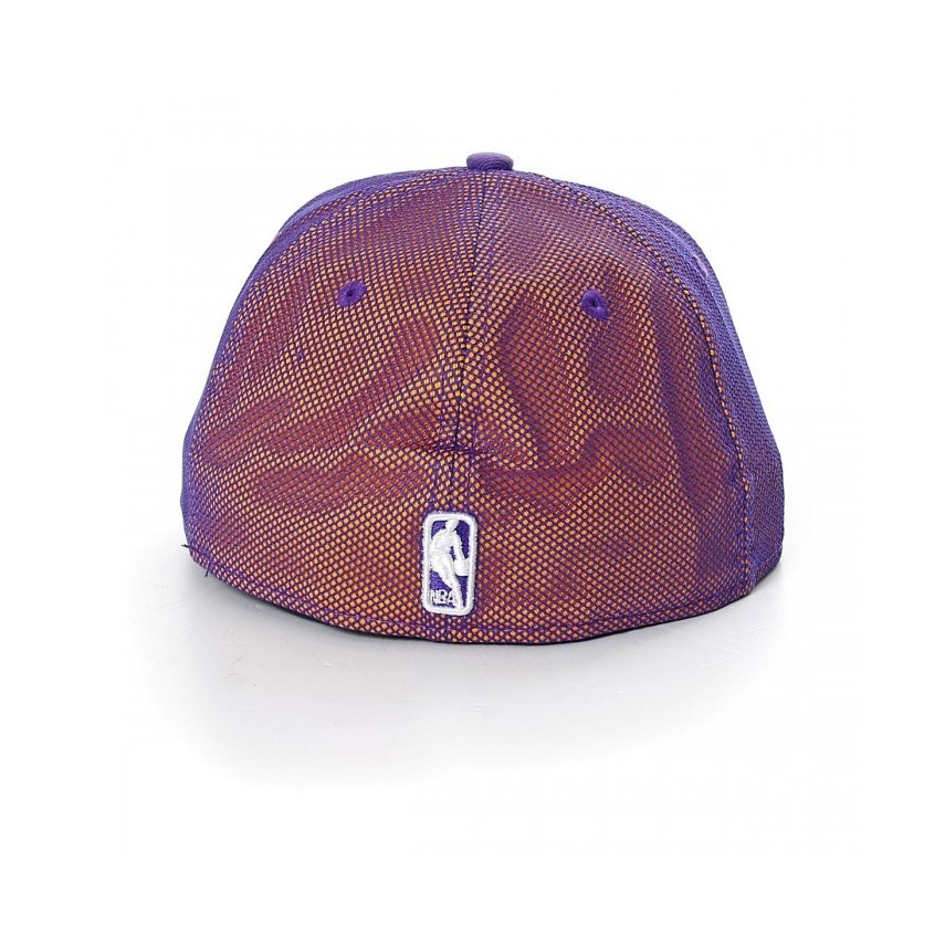 5fcbe7c39072e CAPPELLO FITTED NEW ERA CAP FITTED NBA LOS ANGELES LAKERS MESH CROWN  Purple Yellow. ‹ ›