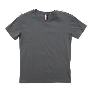 MAGLIETTA STK SUPERTOKYO T-SHIRT ZIP/SHOULDER STK1411 LeadGrey