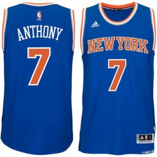 CANOTTA ADIDAS BASKETBALL JERSEY SWINGMAN NBA NEW YORK KNICKS ROAD NO7 CARMELO ANTHONY stg