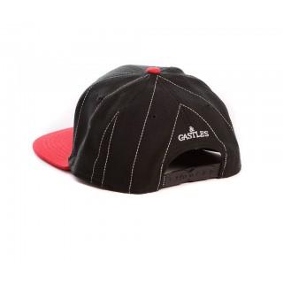 CAPPELLO SNAPBACK CROOKS  CASTLES CAP SNAPBACK SERIF Black/TrueRed stg