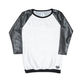 VESTITO FRANKLIN  MARSHALL WOMAN SWEAT/DRESS Silver/Black stg