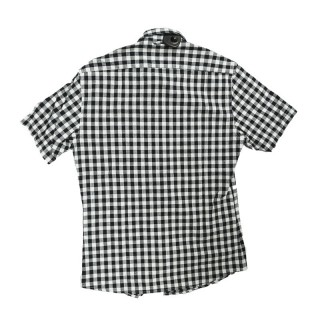 CAMICIA FRANKLIN  MARSHALL SHIRT S/S POCKET HOLLYWOOD Black/White stg