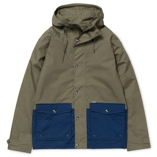 GIUBBOTTO CARHARTT JACKET PORT GreenLeaf/Blue stg