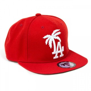CAPPELLO SNAPBACK BOULEVARD CAP SNAPBACK LA PALM Red/White stg