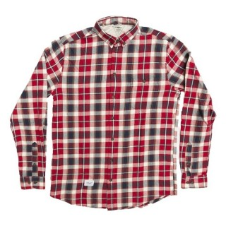CAMICIA REELL SHIRT L/S CHECKED Red/Navy