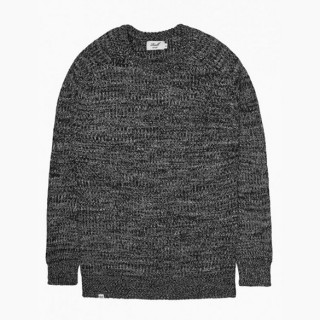MAGLIONE REELL SWEATER WOOL KNITTED MIX Black/White stg
