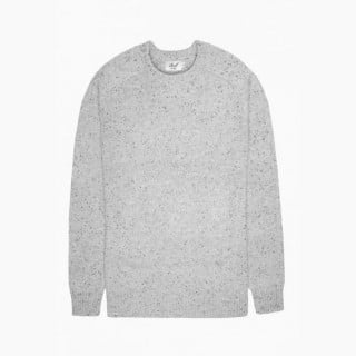 MAGLIONE REELL SWEATER WOOL KNITTED SPECKLE Grey