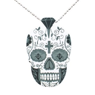 COLLANA KINGLOOP NECKLACE WOOD CALAVERA Black stg