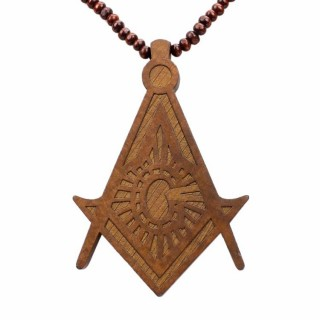 COLLANA KINGLOOP NECKLACE WOOD MASONRY Brown stg
