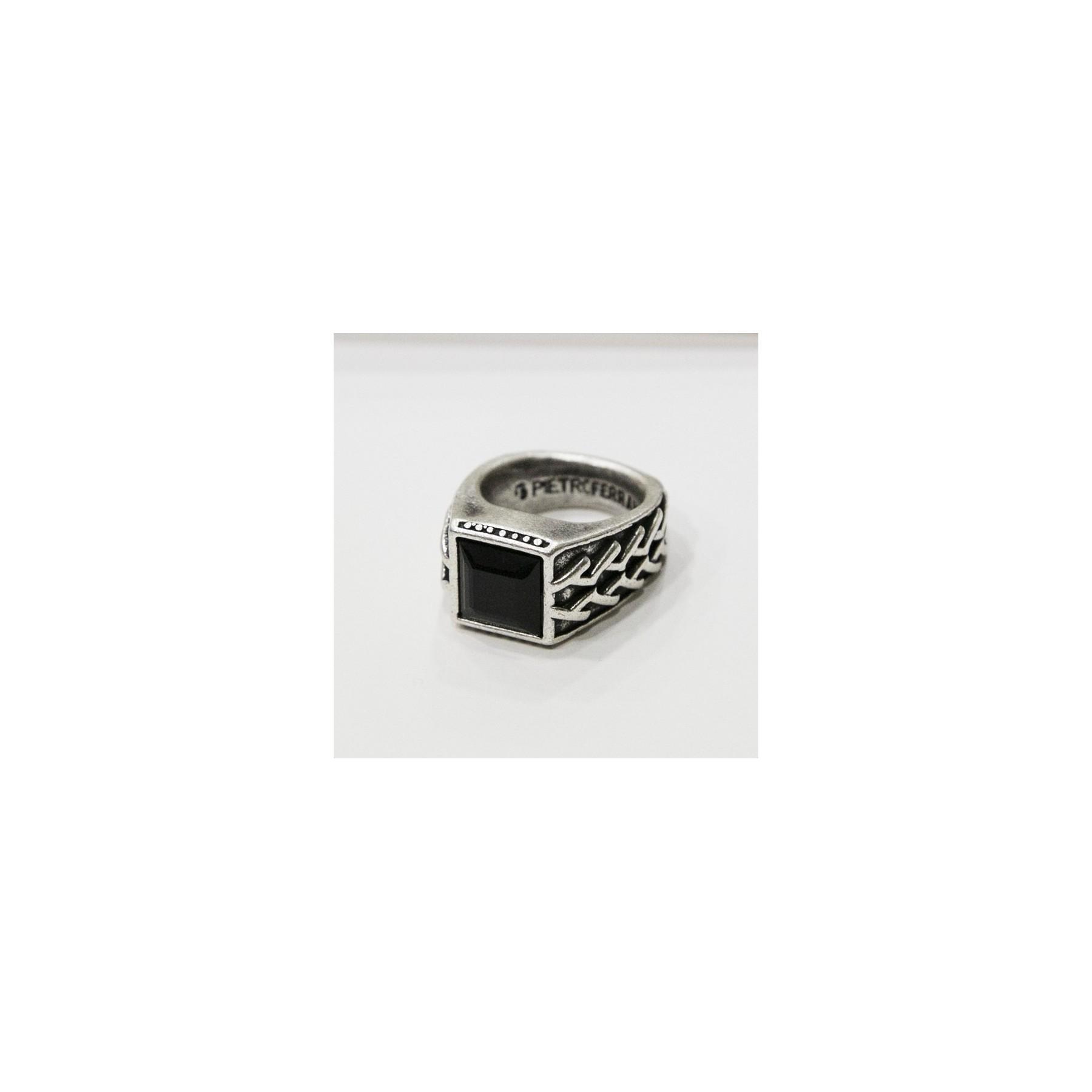 miglior sito web 351e8 318d7 ANELLO PIETRO FERRANTE RING D3293 PIETRA QUADRATA Black unico |  Atipicishop.com