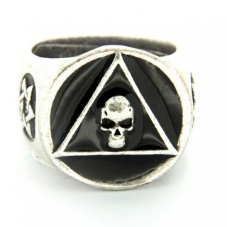 ANELLO PIETRO FERRANTE RING 2731 TRIANGOLO TESCHIO Black stg