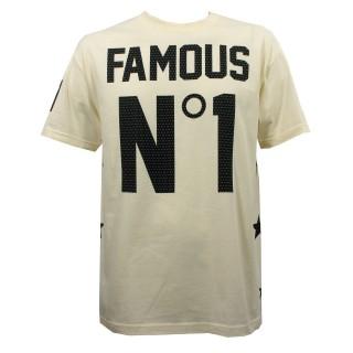 MAGLIETTA FAMOUS T-SHIRT NUMERO UNO Cream/Black