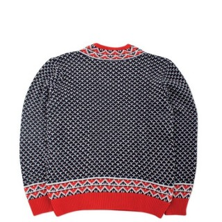 MAGLIONE LOBSTER SWEATER MICKY Blue/Red stg