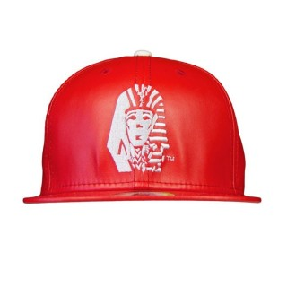 CAPPELLO SNAPBACK LAST KINGS CAP SNAPBACK LEATHER TUT Red/White stg
