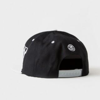CAPPELLO SNAPBACK STUSSY CAP SNAPBACK STADIUM Black/White/grey