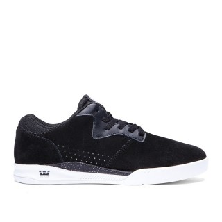 SCARPA BASSA SUPRA SHOES QUATTRO LOW Black/White stg