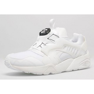 SCARPA BASSA PUMA SHOES DISC BLAZE White/BlackModern stg