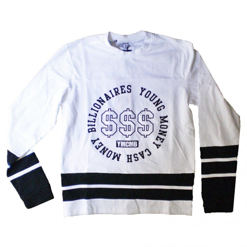 CASACCA YMCMB HOCKEY JERSEY D-SIGN White Black unico  b6737f041