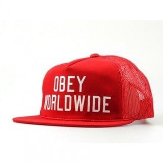 CAPPELLO STRAPBACK OBEY CAP STRAPBACK TRUCK HAT ALUMNI Red/White