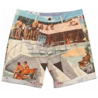 PANTALONE CORTO FRANKLIN  MARSHALL SHORT MITCH POOL PARTY All over stg