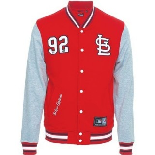 FELPA GIROCOLLO MAJESTIC SWEATSHIRT VARSITY MLB STLOUIS CARDINALS LUTKIN Red/Grey/White/Black