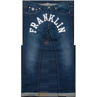 PANTALONE LUNGO FRANKLIN  MARSHALL JEANS REGULAR FIT CHICAGO Stencil Wash stg