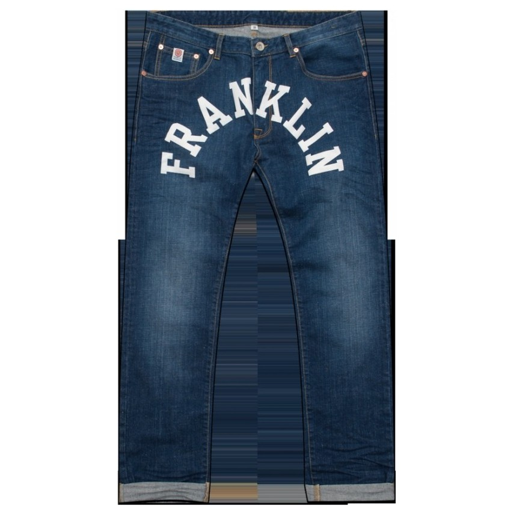 new product 55f6f 66aa5 PANTALONE LUNGO FRANKLIN MARSHALL JEANS REGULAR FIT CHICAGO Stencil Wash  unico   Atipicishop.com