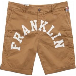 PANTALONE CORTO FRANKLIN  MARSHALL SHORT LEO Beige/White stg
