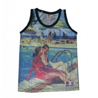 CANOTTA FRANKLIN  MARSHALL TANK TOP MESH RELAX All Over stg
