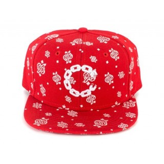 CAPPELLO SNAPBACK CROOKS  CASTLES CAP SNAPBACK CHAIN C PAISLEY True Red