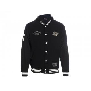 FELPA CAPPUCCIO MAJESTIC SWEATSHIRT VARSITY HOODIE NHL LOS ANGELES KINGS Black/Grey/White stg