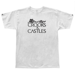 MAGLIETTA CROOKS  CASTLES T-SHIRT BONE CORPS Heather Grey